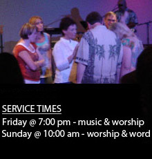 Providence Worship Center service times are Friday at 7:00 PM and Sunday at 10:00 AM